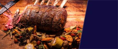Wagyu beef roast prime rib, Carving food Фото со стока