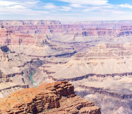 South rim of Grand Canyon in Arizona USA Panorama