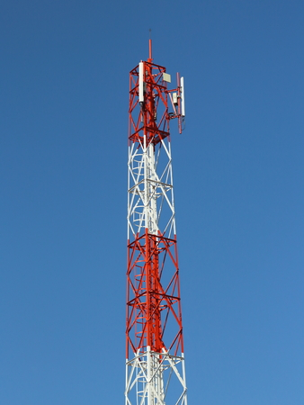 Antenna wireless phones in the daytime and blue sky Stock Photo