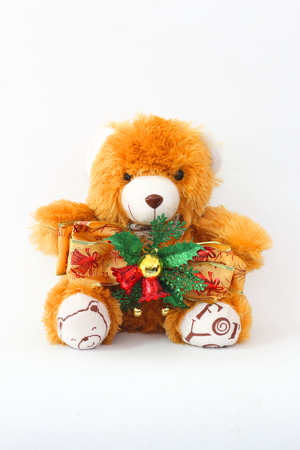 keith: Keith Brown Bear and Christmas bells on a white background.