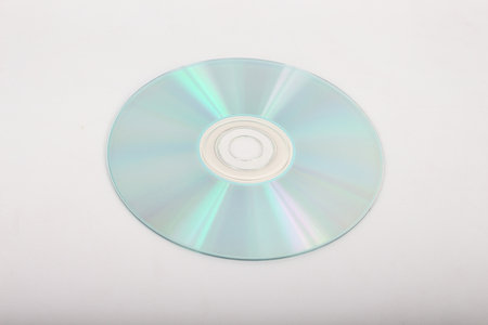 dvd rom: CD on a white background. Stock Photo