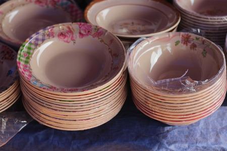 Cups, plates and decorative ceramics Haile Selassie.