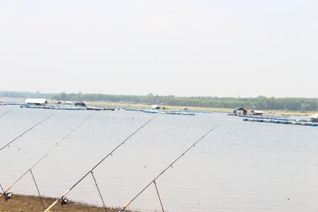 sportfishing: Fishing at Lam Pao Kalasin Dam, Thailand.
