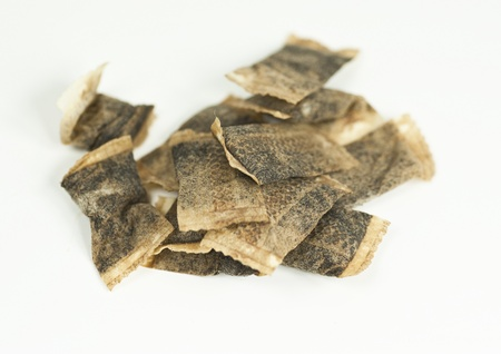 Bags of snuff on a white background Stock Photo