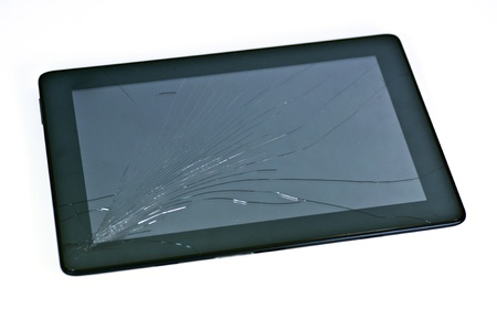 digitized: a cracked mobile electronic device or tablet