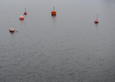 A few buoy indicating that the marina have vacant berth