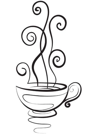 tea or coffee mug, hot drink, isolated object on a white background, vector illustration, eps