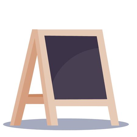 Illustration of realistic wooden board for restaurant menu