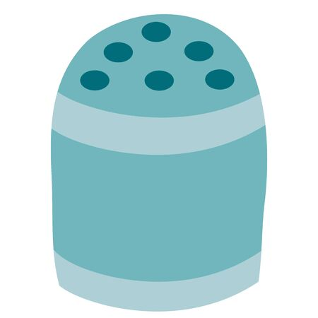 cute blue pepperbox, flat, isolated object on a white background, vector illustration, Ilustração