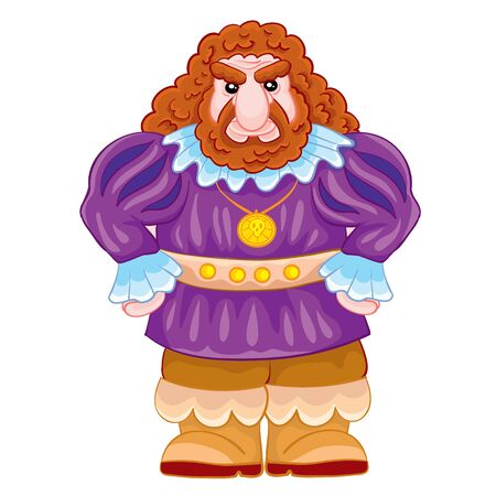 fairy tale character giant in a purple camisole and a fierce facial expression, cartoon illustration, isolated object on a white background, vector illustration Stock fotó - 149873098