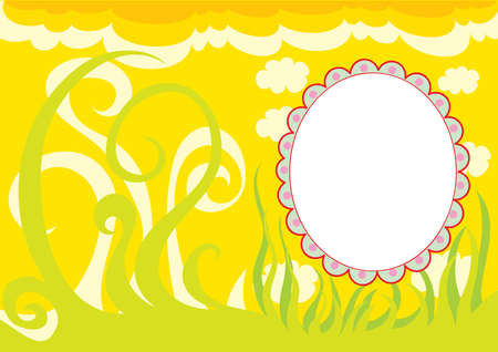 yellow background vignette for photography, nature, vector illustration, eps