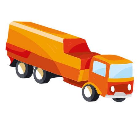 airplane fuel truck, cartoon illustration, vector illustration, isolated object on white background, vector illustration