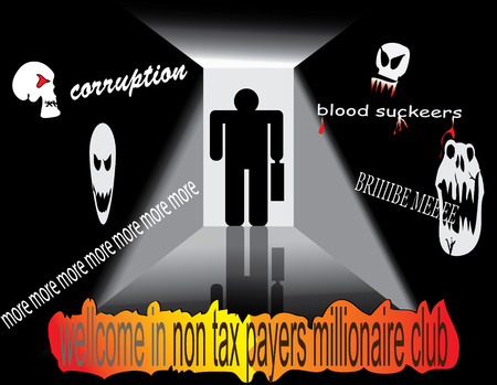 corruptible: non tax payers millionaire club Illustration