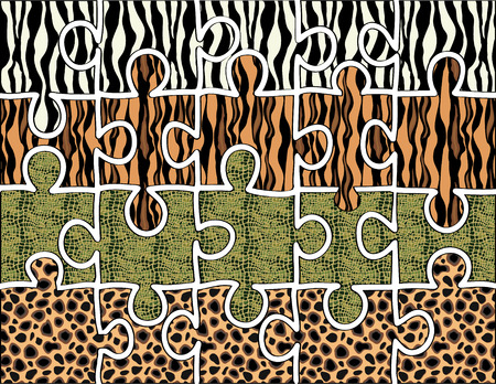 crocodile skin: animal hide puzzle...