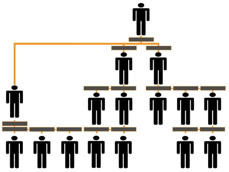 Organizational corporate hierarchy chart of a company of symbol people,multi level,Business network or connection,Concept image representing networking, business relationship