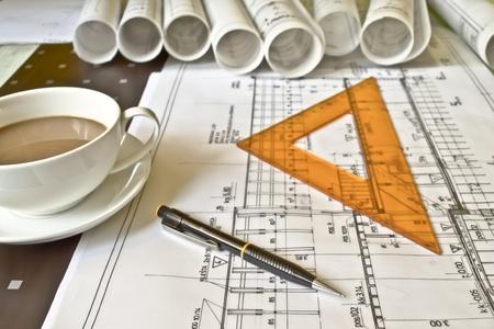 롤 건설 계획 스톡 콘텐츠