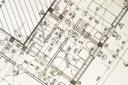 종이에 인테리어 디자인의 건축 계획,