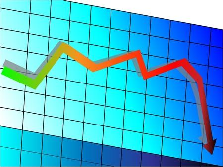 accretion: Declining graph