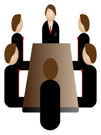 ビジネス会議アイコン  イラスト・ベクター素材