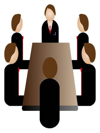 business meeting icon Illustration