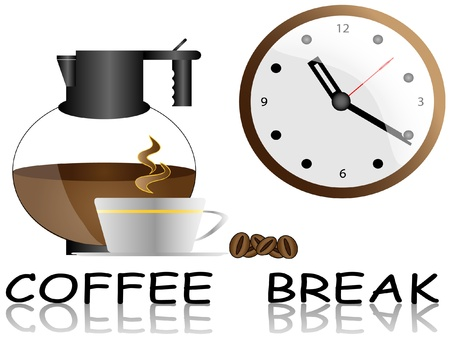 stimulant: coffee break,vector illustration easy to edit