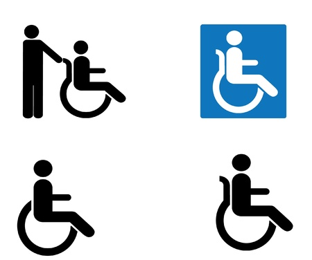 handicap sign: icono de discapacitados vector signo