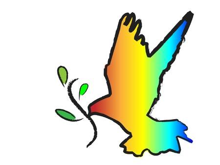 鳩はオリーブの枝を持つ