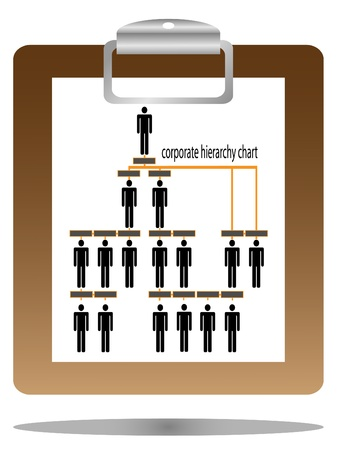 corporate hierarchy chart  Stock Vector - 11143602