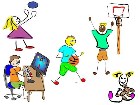 cartoon sport: cartoon sport kids