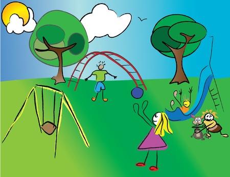 niños jugando en la naturaleza Foto de archivo - 11143673