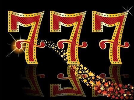 행운의 일곱, 슬롯 777 스톡 콘텐츠 - 11143672