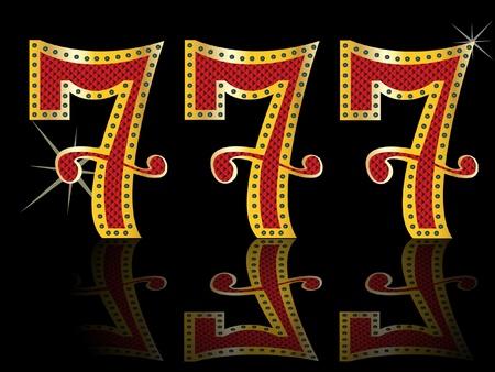 lucky seven,slot 777 Stock Vector - 11143671