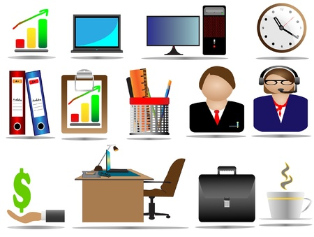 Office Icon Set Stock Vector - 11143662