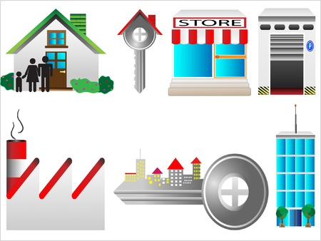 security company: real estate business vector illustration  Illustration