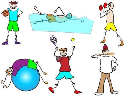 cartoon sport  Vector