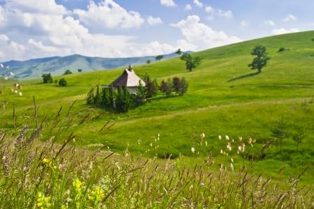 木製の山小屋
