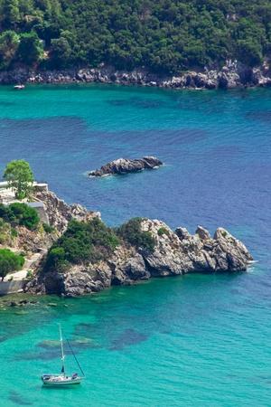 Paleokastritsa bay on Corfu island Greece photo