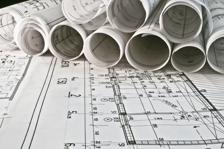 architectural plan blueprints Stock Photo - 11235399