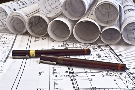 cad drawing: 建築規劃藍圖