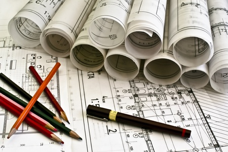 architect tools: architectural plan blueprints