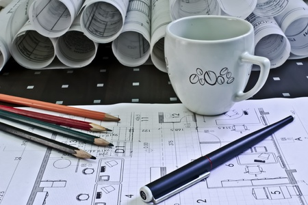 Blueprint of a house Stock Photo - 11242280