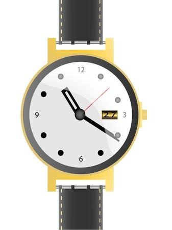 cintur�n de cuero: reloj con correa de cuero