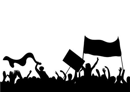 political rally: I manifestanti si affollano