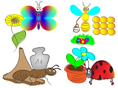 various insects Stock Vector - 11817832