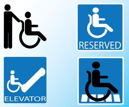 핸디캡: 장애인 아이콘 기호 벡터 일러스트