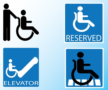 handicap sign: icono deshabilitado vector de se�al