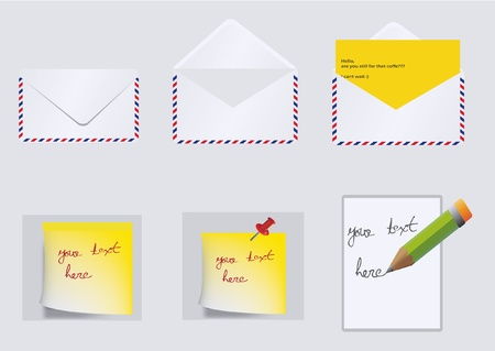 messages and letters Vector