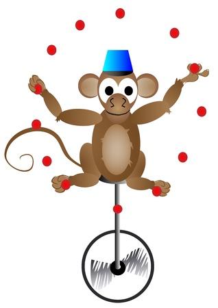 서커스 원숭이 일러스트
