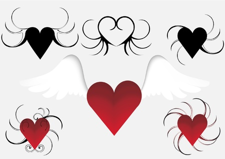heart in vector format very easy to edit Stock Vector - 12066369