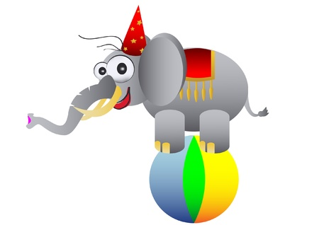 circus elephant as acrobat Stock Vector - 12066368